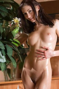 Model Kateryna in Oiled young girl Kateryna
